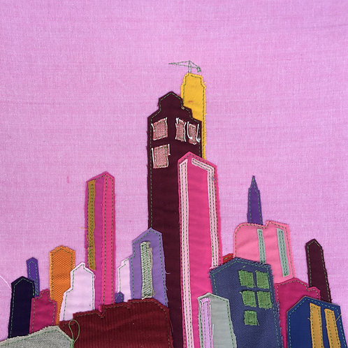 30/30 patchwork - pinkish sky scrapers