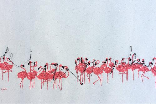 sewn sketch 25/50cm - flamingo flock