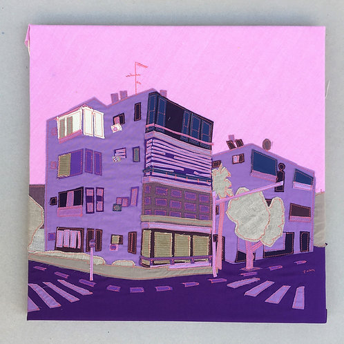 patchwork 50/50cm - violet, 35 har tsion.