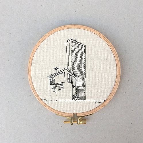 sewn sketch hoop14cm - home and colbo shalom