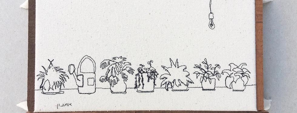 Sewn sketch 23/12cm - plants
