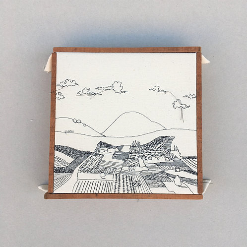 sewn  sketch 22/22cm - fields of the valley