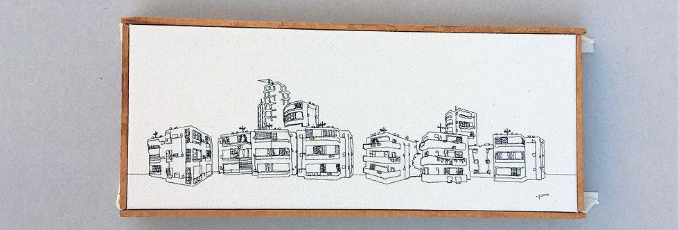 sewn sketch 42/17cm - tel aviv