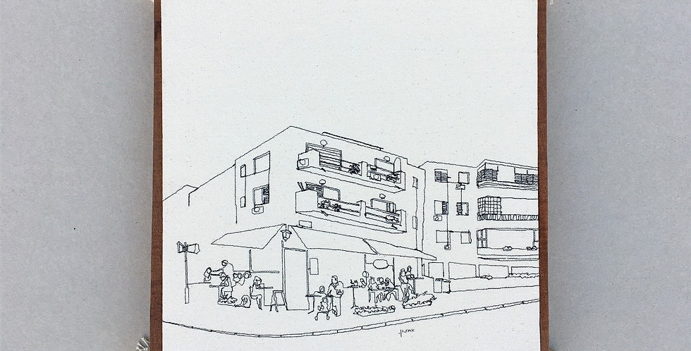 sewn sketch 27/27cm - cofee place