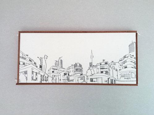 sewn sketch 50/22cm - tel aviv