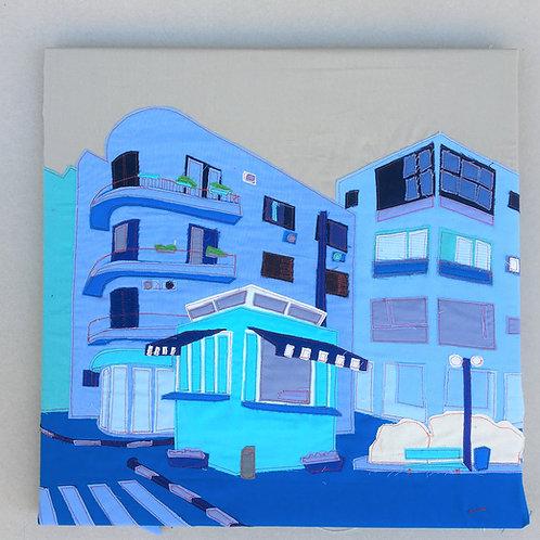 patch work 50/50cm - blue, ben yehuda