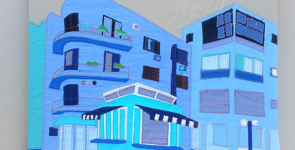 patch work 50/50cm - blue, ben yehuda