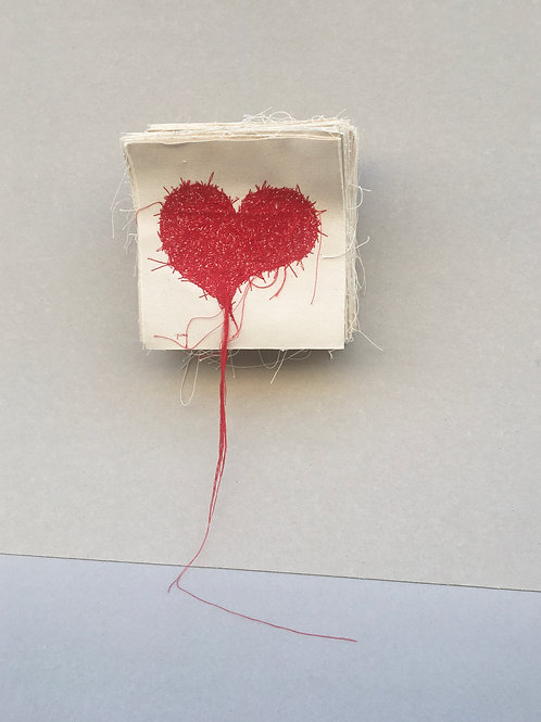 red heart - red thread canvas layers