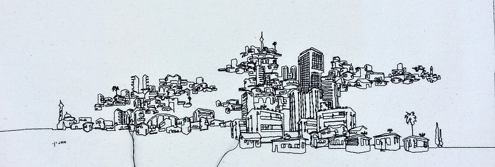 sewn sketch 50/22cm - mumbai-telaviv