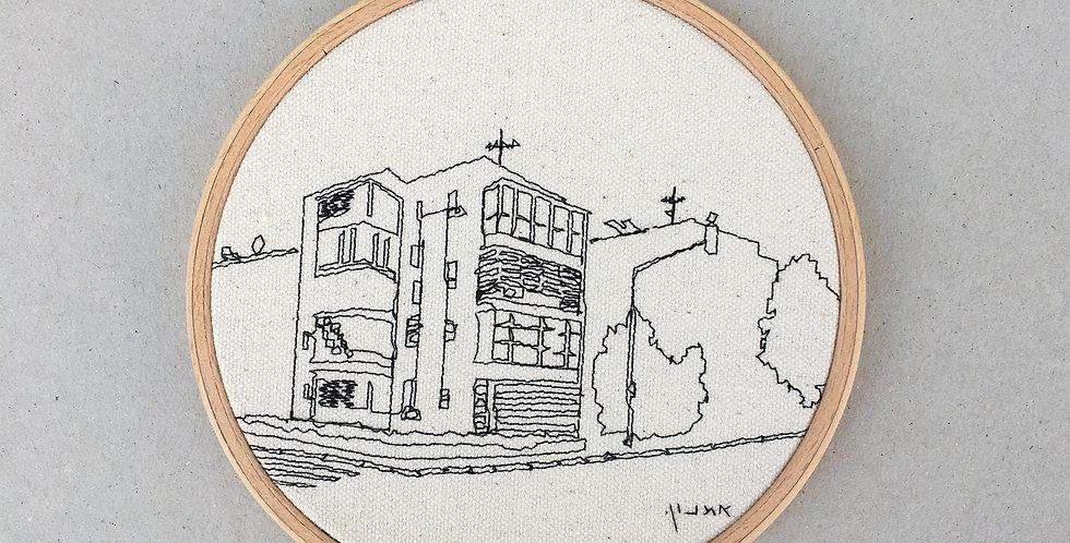 sewn sketch hoop14cm - building. hartzion, tel aviv