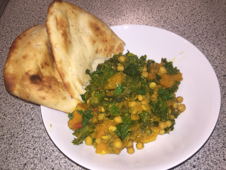 Squash, Kale, Chickpea Curry