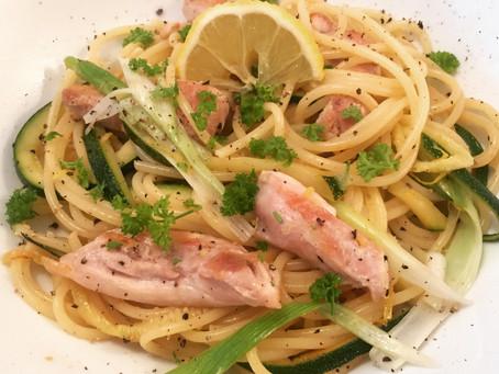 Quick Chicken, Courgette and Lemon Linguini