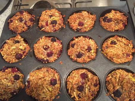 Blackberry and Apple Oat Muffins