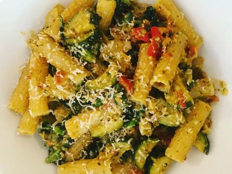 Courgette & Tomato Pesto Pasta