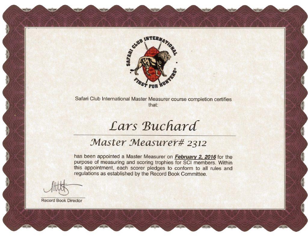 Master Measurer SCI2312 Lars Buchard