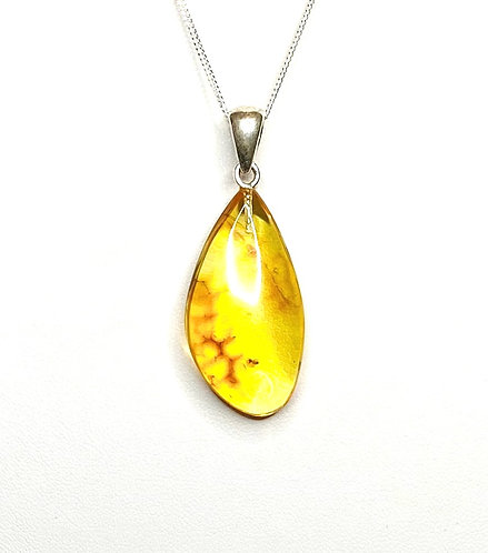 Baltic Amber with Spider Necklace