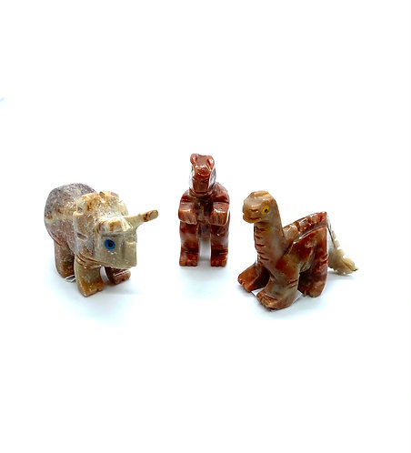 Mini Soapstone Dinosaur Set