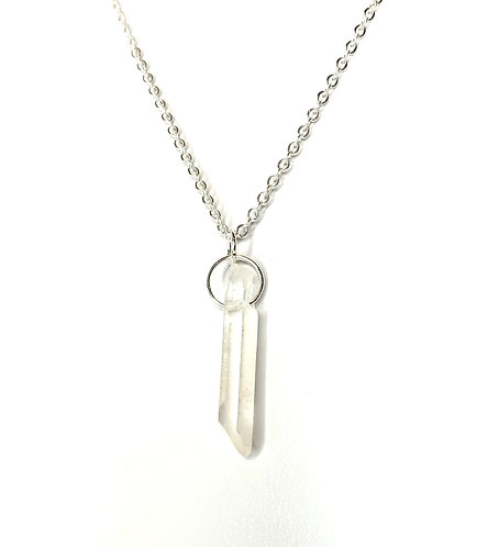 Rough Quartz Point Necklace