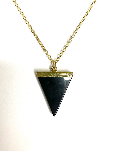 Agate Triangle Necklace