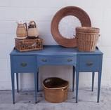 America's Antique Mall Vintage Blue desk