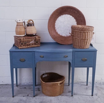 America's Antique Mall Vintage Blue desk