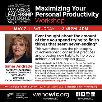 Maximize Your Personal Productivity- WEHOWLC