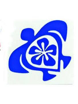 Die Cut Sticker - Turtle with Hibiscus