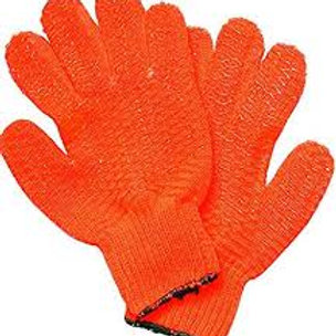 Yellow Vinyl Coated Lobster Gloves