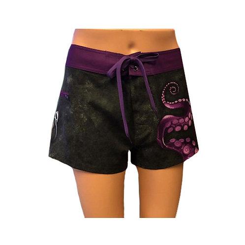 Sea Fear Women's Black Octo Board Shorts