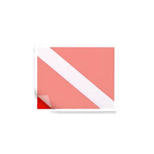 Reverse Mount Dive Flag Sticker