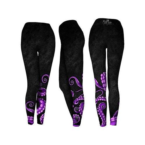 SeaFear Black Octo Performance Leggings