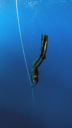free diver underwater in key west - watersports store