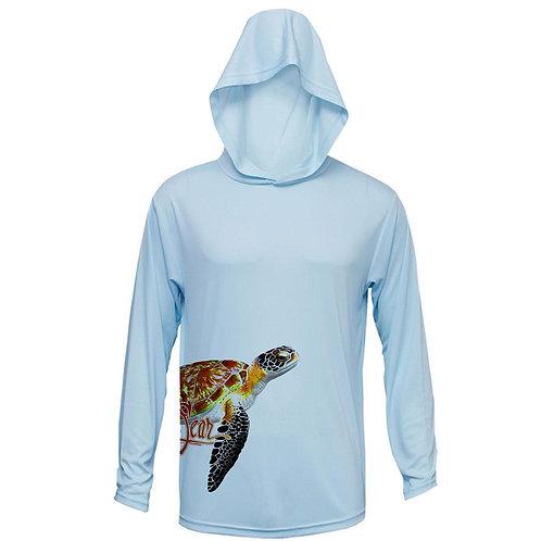 Sea Turtle (Side Wrap) Long Sleeve Performance Hoody