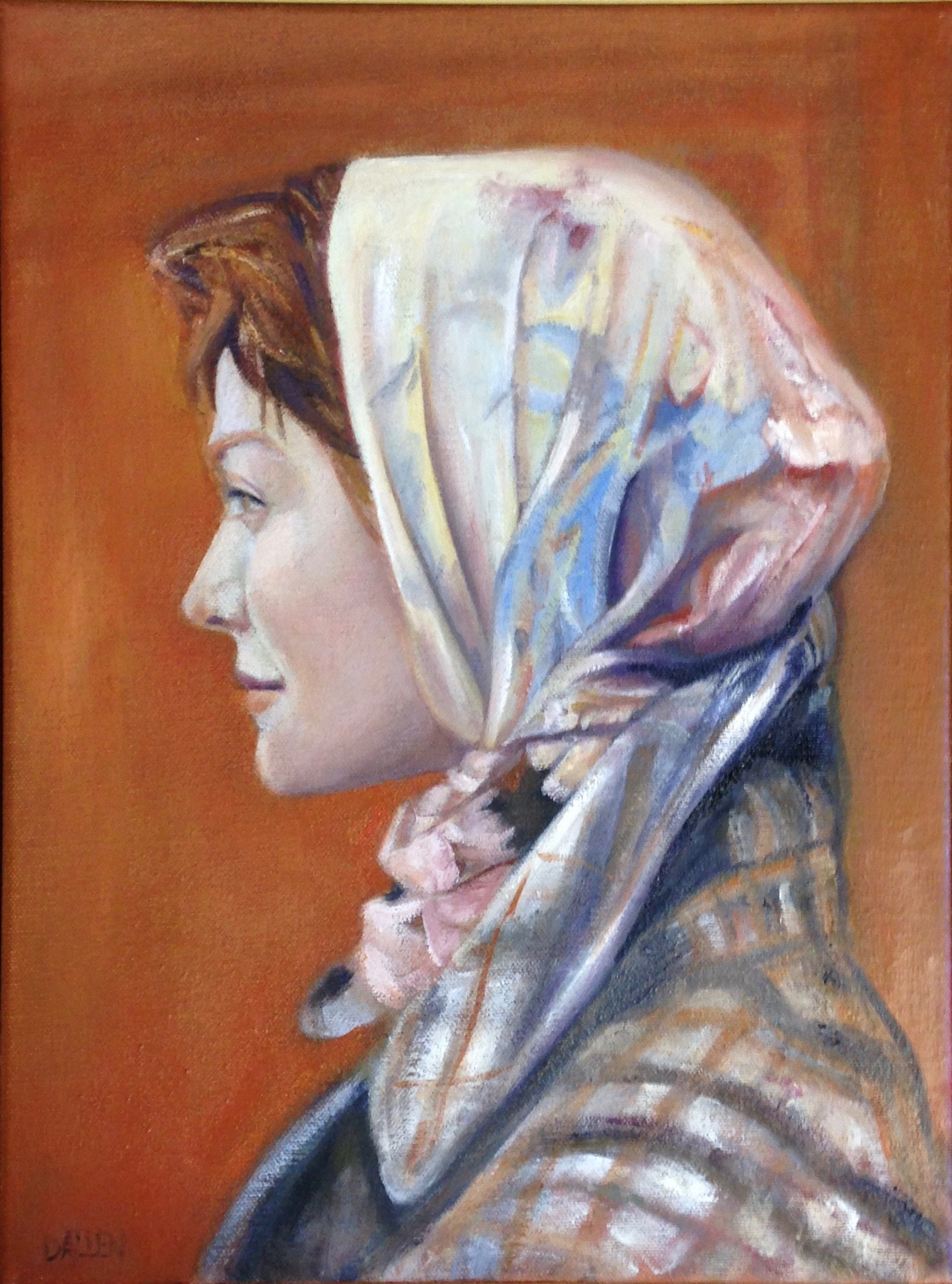 Lady Wearing Scarf *