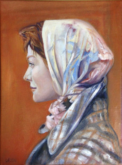 Lady Wearing Scarf *