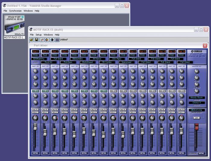 Yamaha motif rack es интерфейс