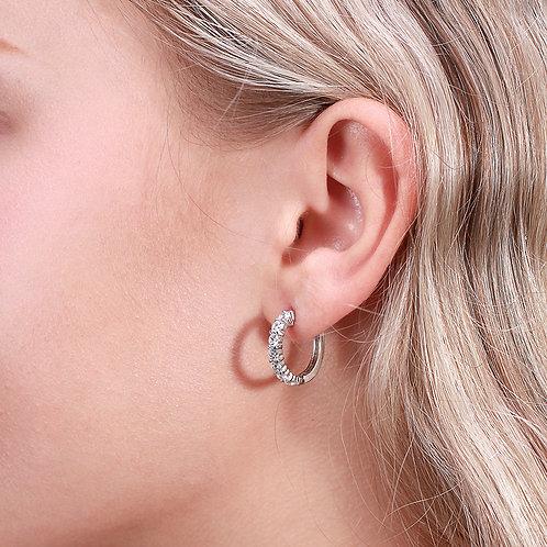 Bella Single Hoop Sterling Silver Earring