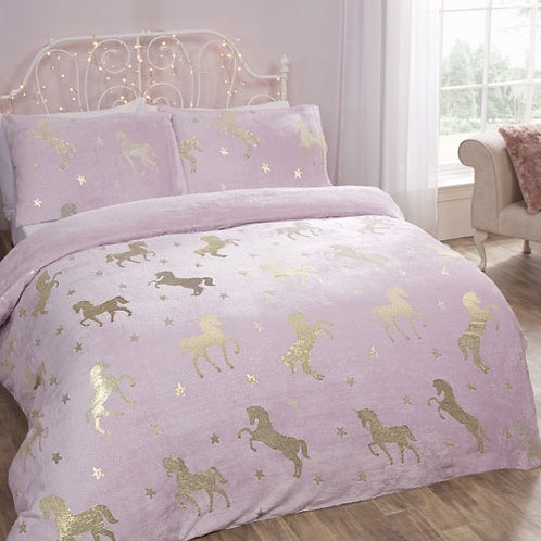 Comfy Fleece unicorn Duvet Set Double