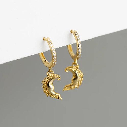 Shyla Delicate Sterling Silver Earrings In Gold