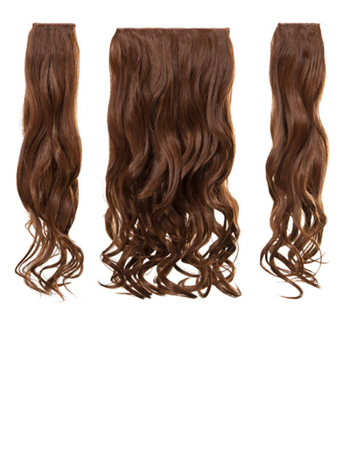 Auburn Curly Clip in 3 Piece Hair Extensions