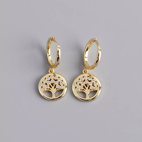 Aria Delicate Sterling Silver Earrings In Gold