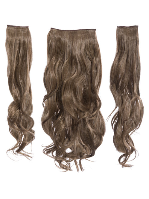 Harvest Blonde Curly Clip In 3 Piece Hair Extensions