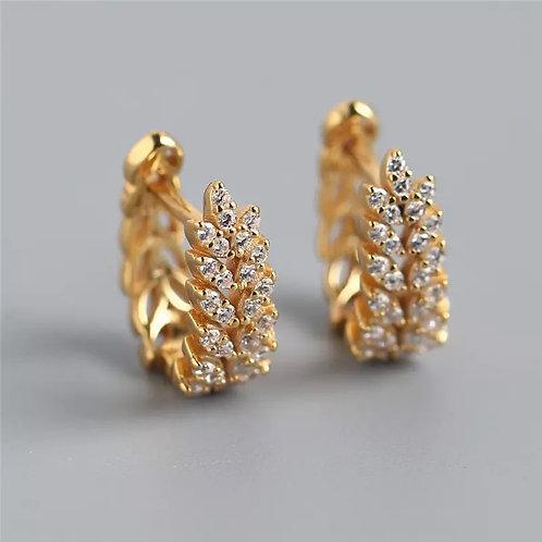 Sophia Sterling Silver Gold Earrings