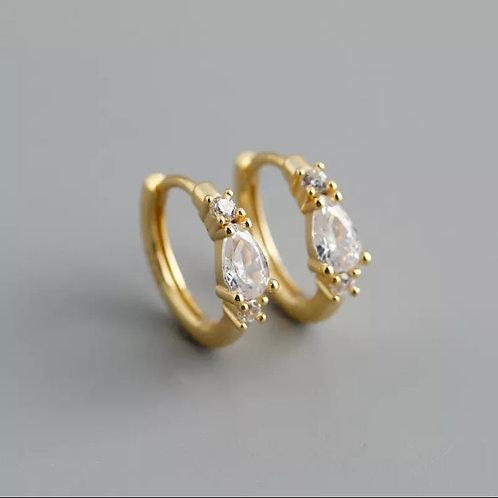 Erin Delicate Sterling Silver Earrings In Gold