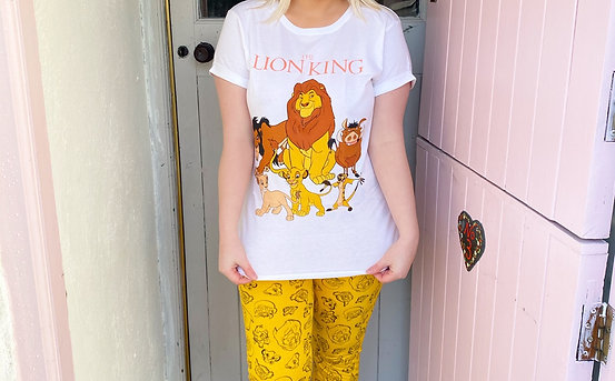 Ladies Official Lion King Group Pyjamas