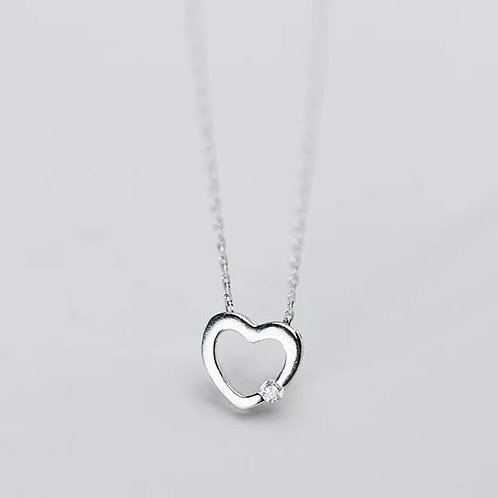 Love Sterling Silver Heart Necklace