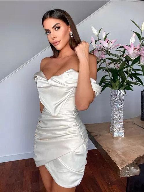 Satin Mini Party Dress