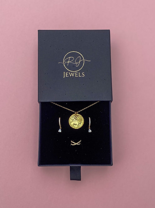 Gift Set Gold Colour Sterling Silver