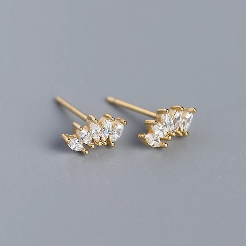Fiona Delicate Sterling Silver Earrings In Gold