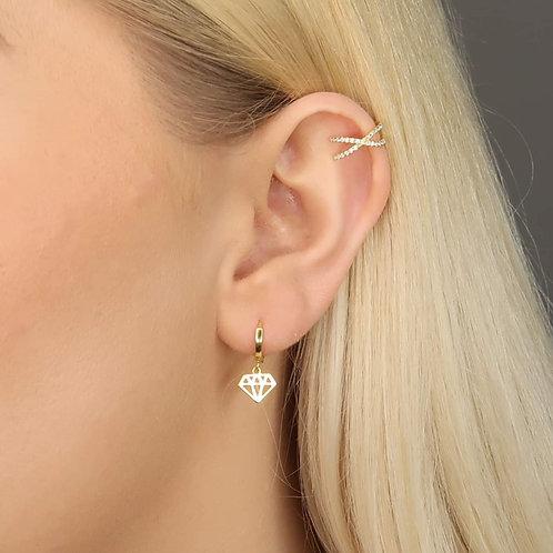 Mia Delicate Sterling Silver Earrings In Gold